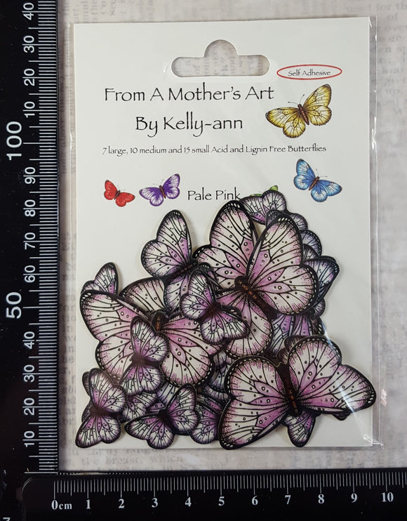 Butterfly Stickers - Pale Pink