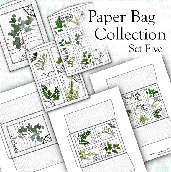 Paper Bag Collection - Set Five - DI-10114 - Digital Download