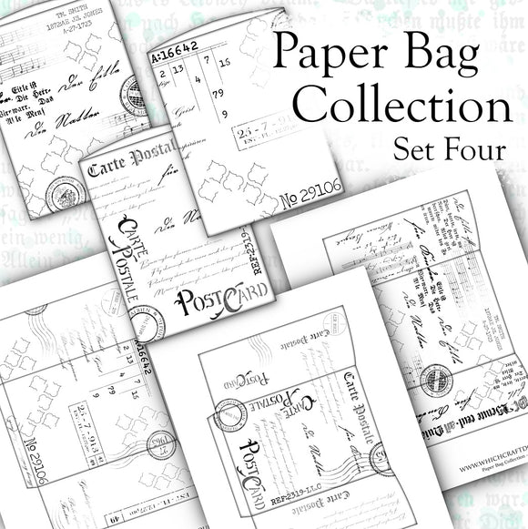 Paper Bag Collection - Set Four - DI-10113 - Digital Download