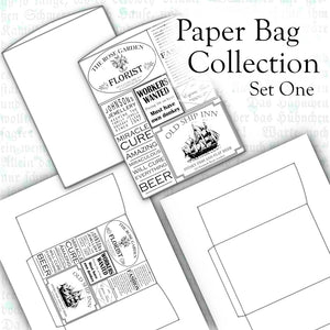 FREEBIE - Paper Bag Collection - Set One - DI-10110 - Digital Download