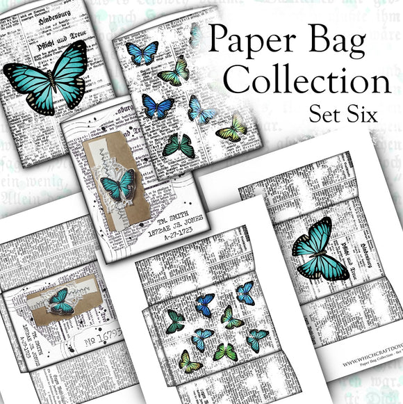 Paper Bag Collection - Set Six - DI-10115 - Digital Download