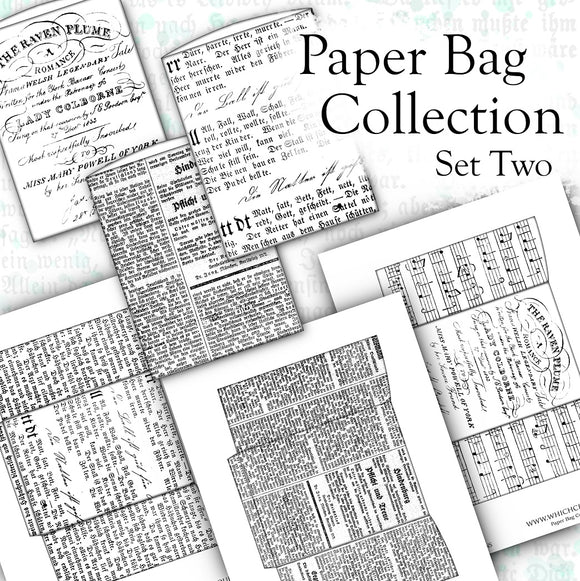 Paper Bag Collection - Set Two - DI-10111 - Digital Download