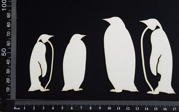 Penguin Set - A - Layering Set - White Chipboard