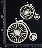 Penny Farthing Set - White Chipboard