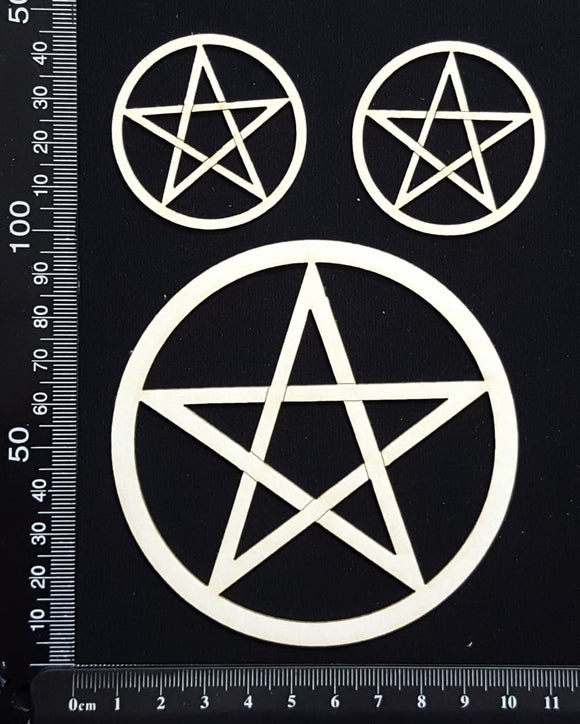 Pentagram Set - White Chipboard
