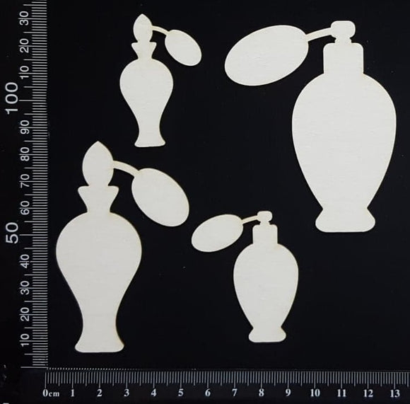 Perfume Bottles - White Chipboard