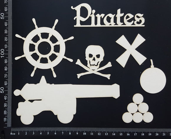 Pirate Set - B - White Chipboard
