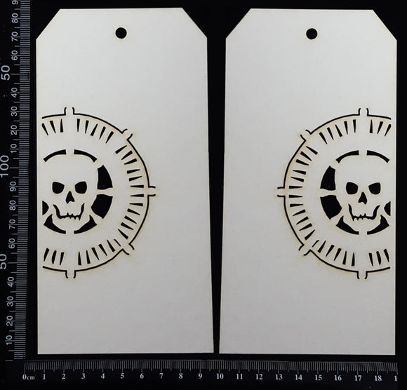 Pirate Tag Set - Large - A - White Chipboard