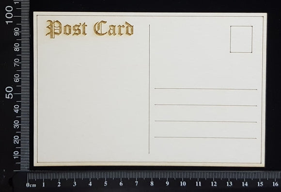 Laser Engraved Post Card - A - White Chipboard