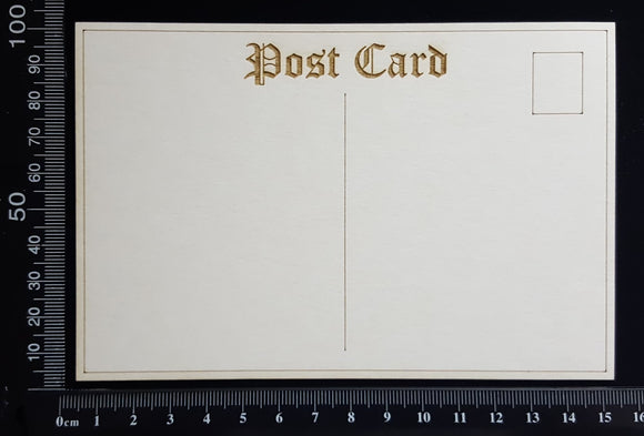 Laser Engraved Post Card - C - White Chipboard