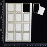 Postage Stamp Set - A - White Chipboard