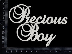 Precious Boy - White Chipboard