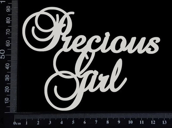 Precious Girl - White Chipboard