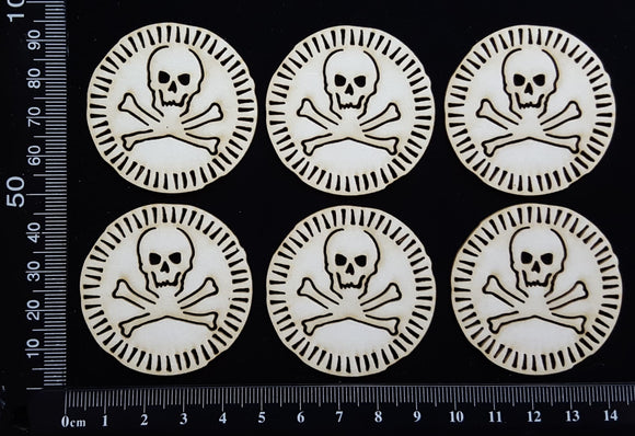 Pirate Gold - B - White Chipboard
