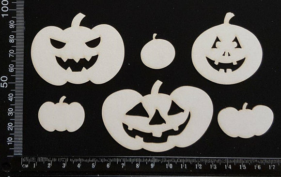 Pumpkins - White Chipboard