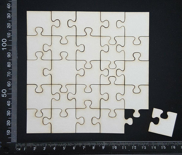 Puzzle Pieces - Small - White Chipboard
