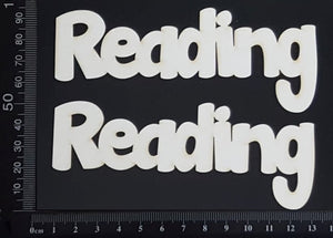 Reading - Set of 2 - White Chipboard