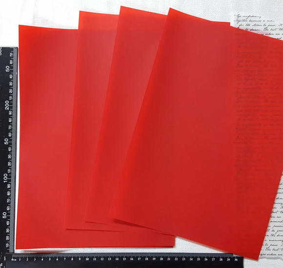 Parchment/Vellum Paper - A4 pack of 25 sheets - Red