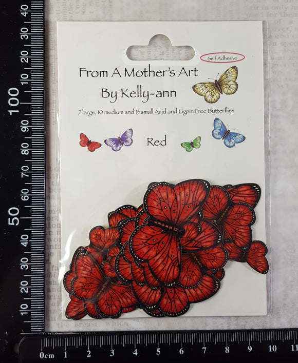 Butterfly Stickers - Red