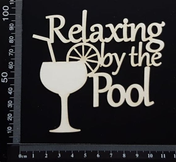 Relaxing by the Pool - White Chipboard