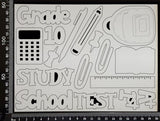 School Elements - Grade 10 - White Chipboard