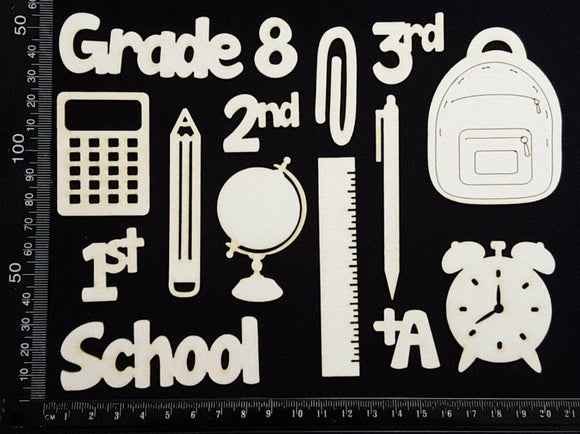 School Elements - Grade 8 - White Chipboard