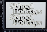 School Holidays - C - Small - Set of 2 - White Chipboard