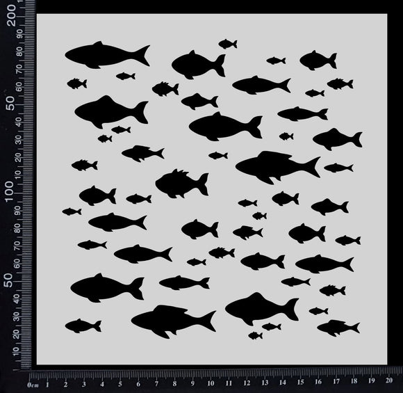 School of Fish - Stencil - 200mm x 200mm