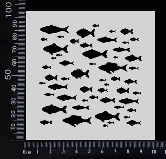 School of Fish - Stencil - 100mm x 100mm