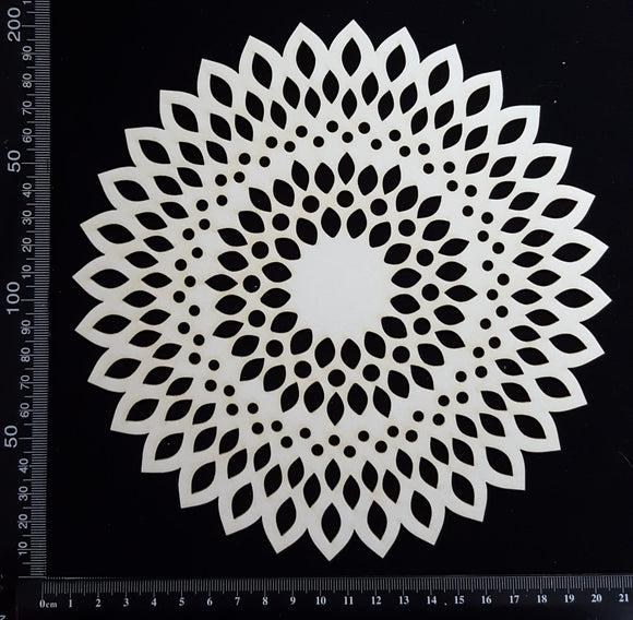Seed Circle Doily - A - Large - White Chipboard