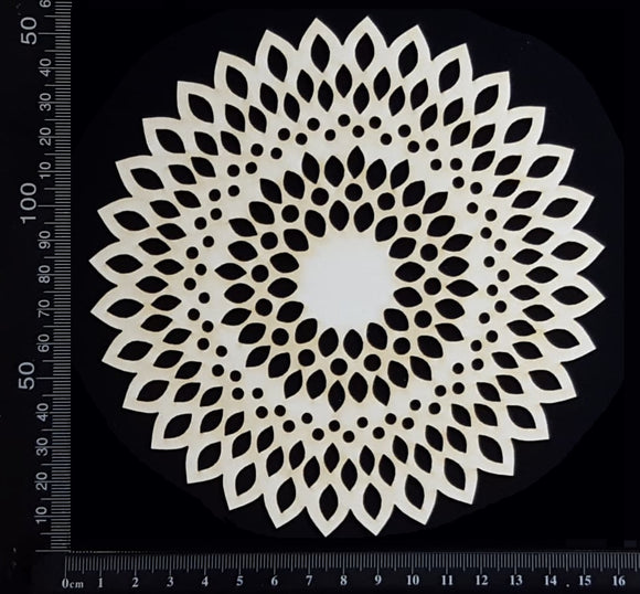 Seed Circle Doily - A - Medium - White Chipboard
