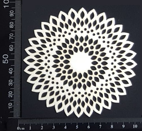 Seed Circle Doily - A - Small - White Chipboard