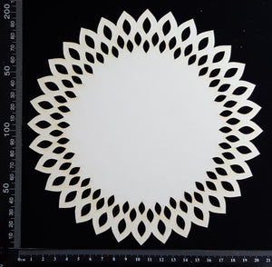 Seed Circle Doily - B - Large - White Chipboard