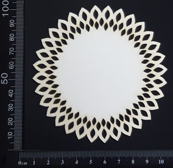 Seed Circle Doily - B - Small - White Chipboard