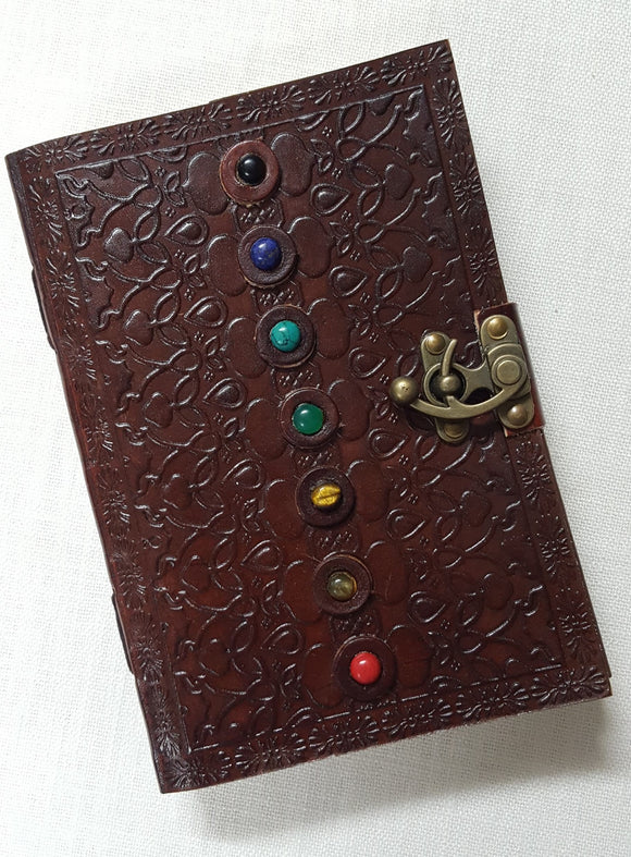 Leather Bound Seven Stone Journal