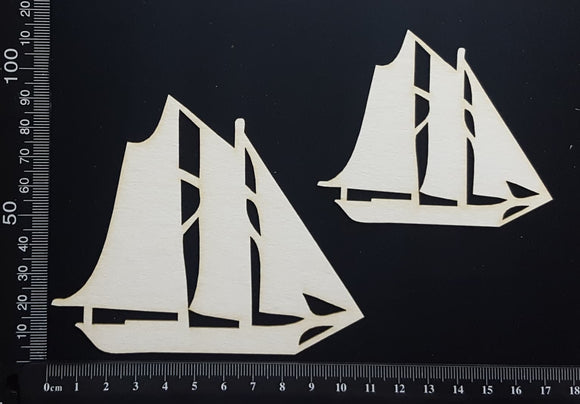 Ships Set - White Chipboard