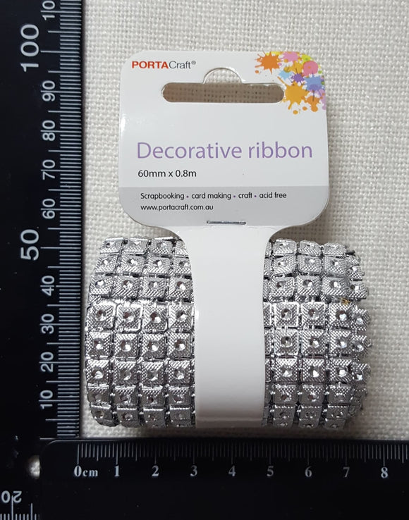 Silver Square Bling Mesh