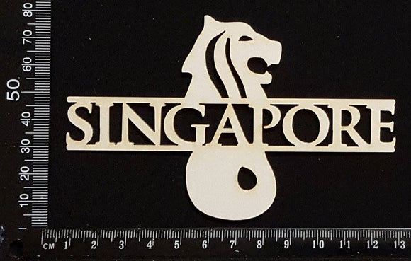 Singapore - A - White Chipboard