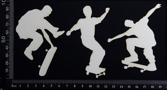 Skateboarders - White Chipboard
