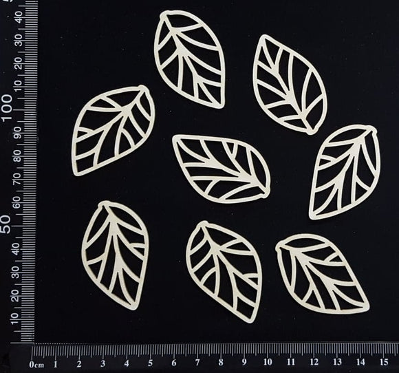 Skeleton Leaves Set - A -  White Chipboard