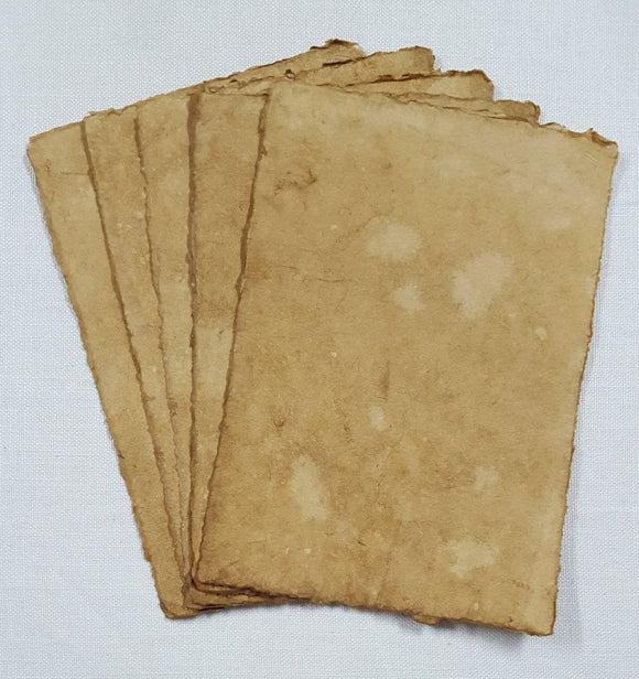 Handmade Deckled Edge Paper Pack - Set of  5 - 19cm x 27cm