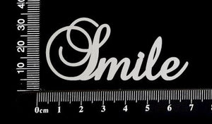 Elegant Word - Smile - White Chipboard
