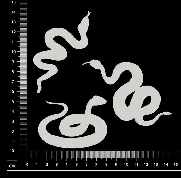 Snakes Set - White Chipboard