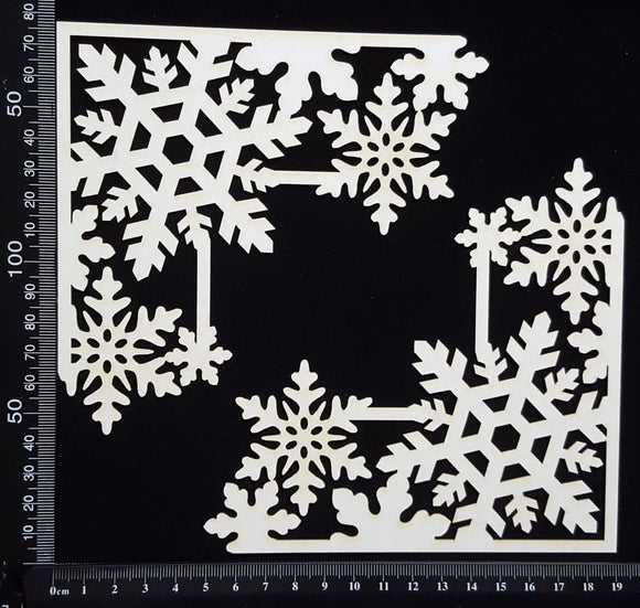 Snowflake Corners Set - White Chipboard