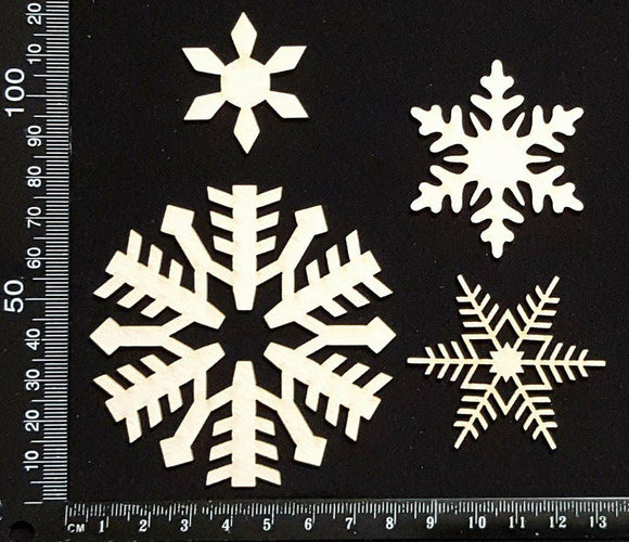 Snowflake Set - E - White Chipboard