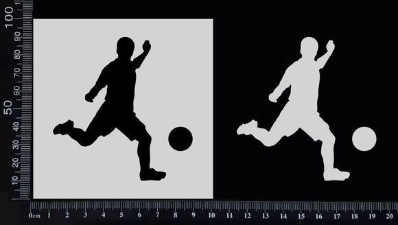 Soccer Player - Stencil - 100mm x 100mm