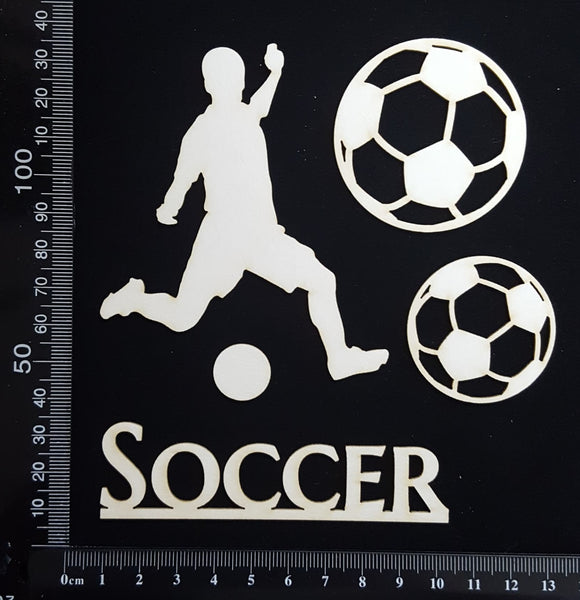Soccer Set - Boy - White Chipboard