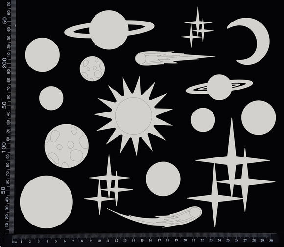 Solar System Set - White Chipboard