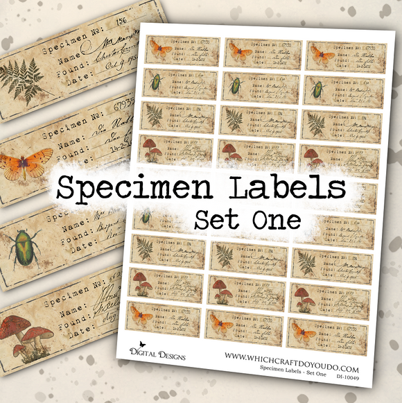 Specimen Labels - Set One - DI-10049 - Digital Download