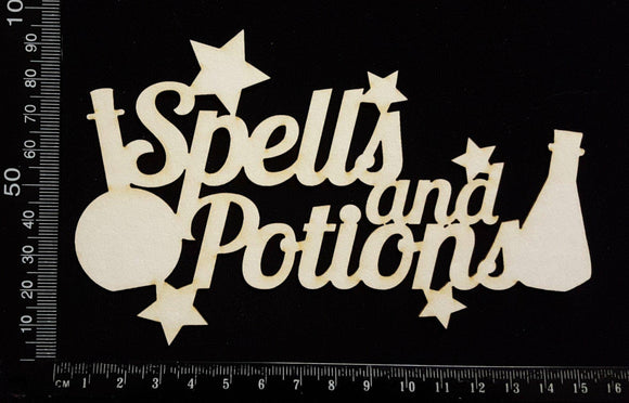 Spells & Potions - A - White Chipboard